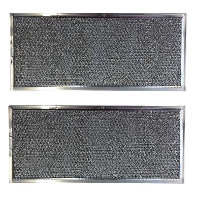 Replacement Aluminum Microwave Filters Compatible With Whirlpool W10120839A and More   5 5/8 x 11 5/8 x 3/32 inches   2 Pack