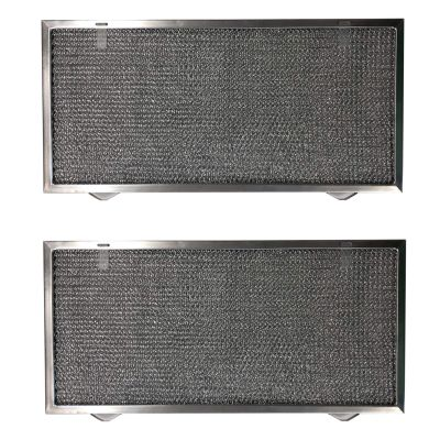 Replacement Aluminum Filters Compatible with GE WB13X5002, Rangeaire 610054,G 8235,  11 7/8 x 18 1/4 x 3/8 (2PT LS, 2TS LS) (2 Pack)