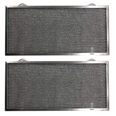 Aluminum Replacement Range Filter Compatible With GE WB13X5001  Dimensions: 8 3/4 x 18 1/8 x 3/8 2PTLS 2TSLS   2 Pack