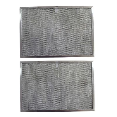 Replacement Aluminum Filters Compatible with GE WB20X9761, GE WB2X2892, GE WB2X9761,GC 7510,RHP1102  11 7/16 X 17 X 3/8 (PT SS) (2 Pack)
