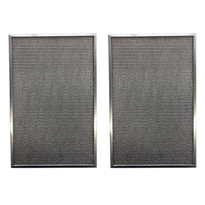 Replacement Aluminum Pre/Post Filter  12 3/8 X 19 7/8 X 3/8 2 TSSS   Compatible with Honeywell Models F50E1000, F50E1166, F50A1009,F50E1026, F50E1273, F50A1025,F50E1141, F50E1299   (2 Pack)