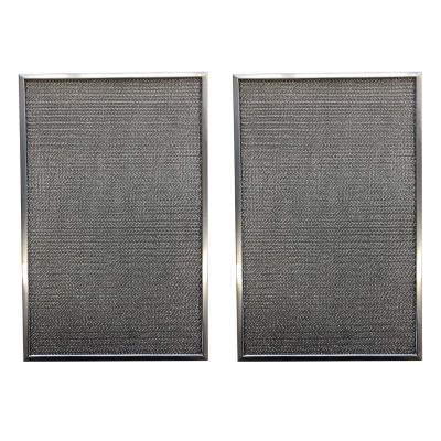 Replacement Aluminum Pre/Post Filter  12 3/8 x 15 7/8 x 3/8   Compatible with Honeywell Air Cleaner Models F300E1019, F300A1620, F50F1073   (2 Pack)