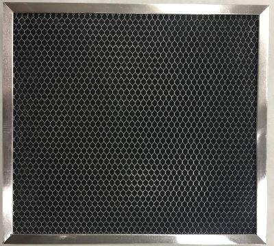 Aluminum and Activated Carbon Range Hood Filter   8 x 9 1/2 x 5/16   1 Pack
