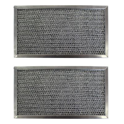 Replacement Aluminum Filters Compatible with Estate 8184002, GE WB02X9883, GE WB06X379, GE WB2X9883, GE WB6X379, Kitchenaid 8184002, Whirlpool 8184002,GC 7501,RCP0611  6 1/8 x 11 1/8 x 3/8 (2 Pack)