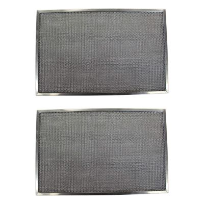 Replacement Aluminum Filters Compatible with Nutone 031 13722, Nutone 19877 000, Nutone 19879 000,G 8521,  10 11/16 X 23 13/16 X 3/8 (2 Pack)