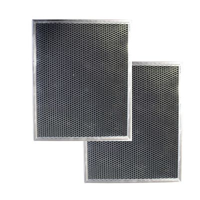 Replacement Carbon Filters Compatible With Broan: 99010308 BPSF30 QS WS GE: WB02X10707   10 13/16 x 13 5/16 (2 Pack)