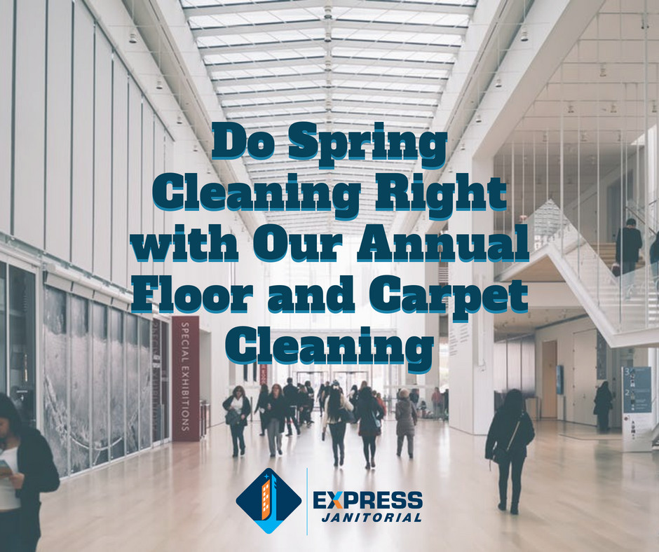 Express Janitorial does annual floor care maintenance | Cleveland, OH