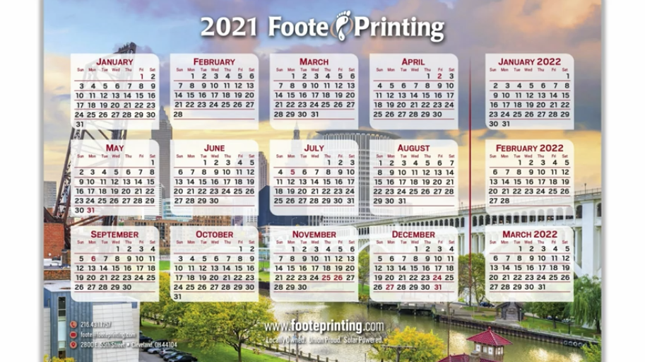 Its Not Too Late to Get Your 2021 Foote Printing Calendar
