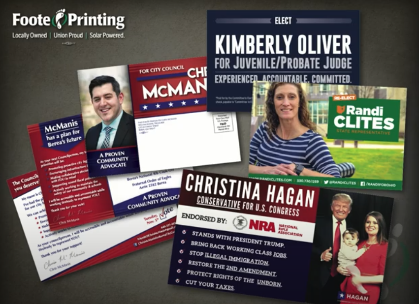 Political Postcard Design, Printing, and Mailing