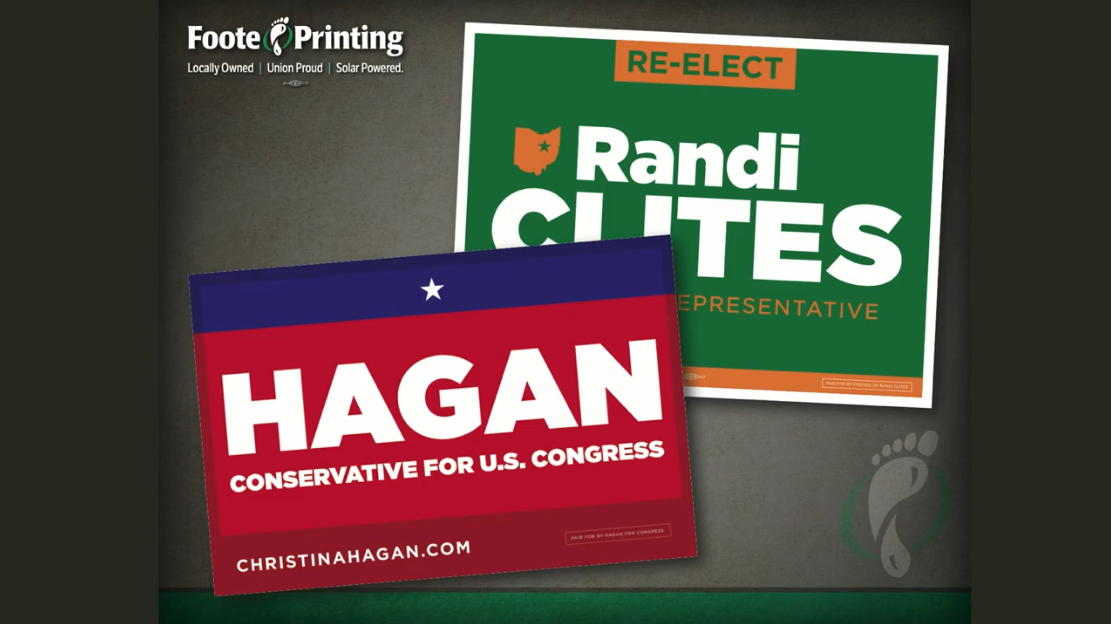 Political Yard Sign Design and Printing