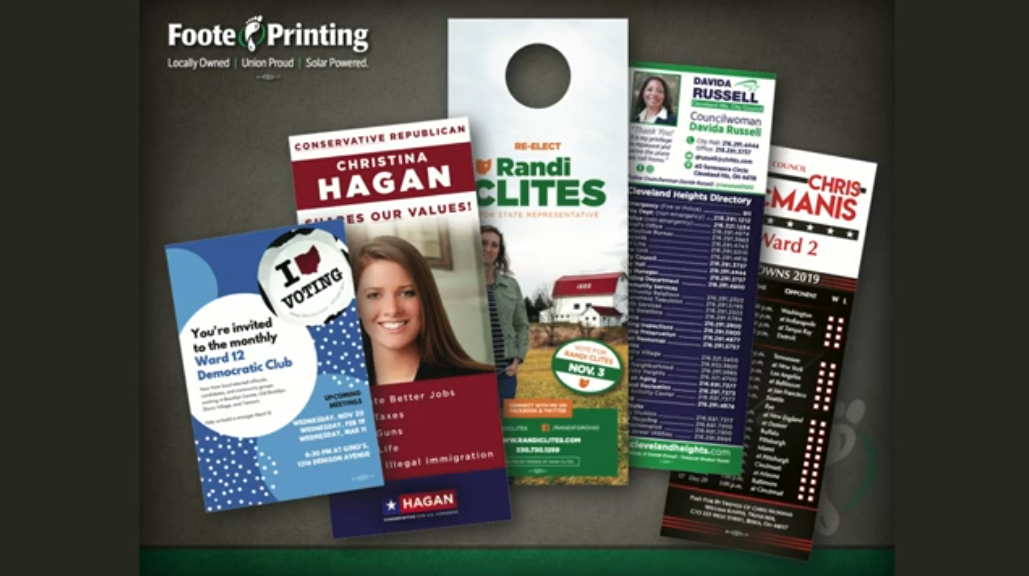 Political Door Hangers and Palm Cards