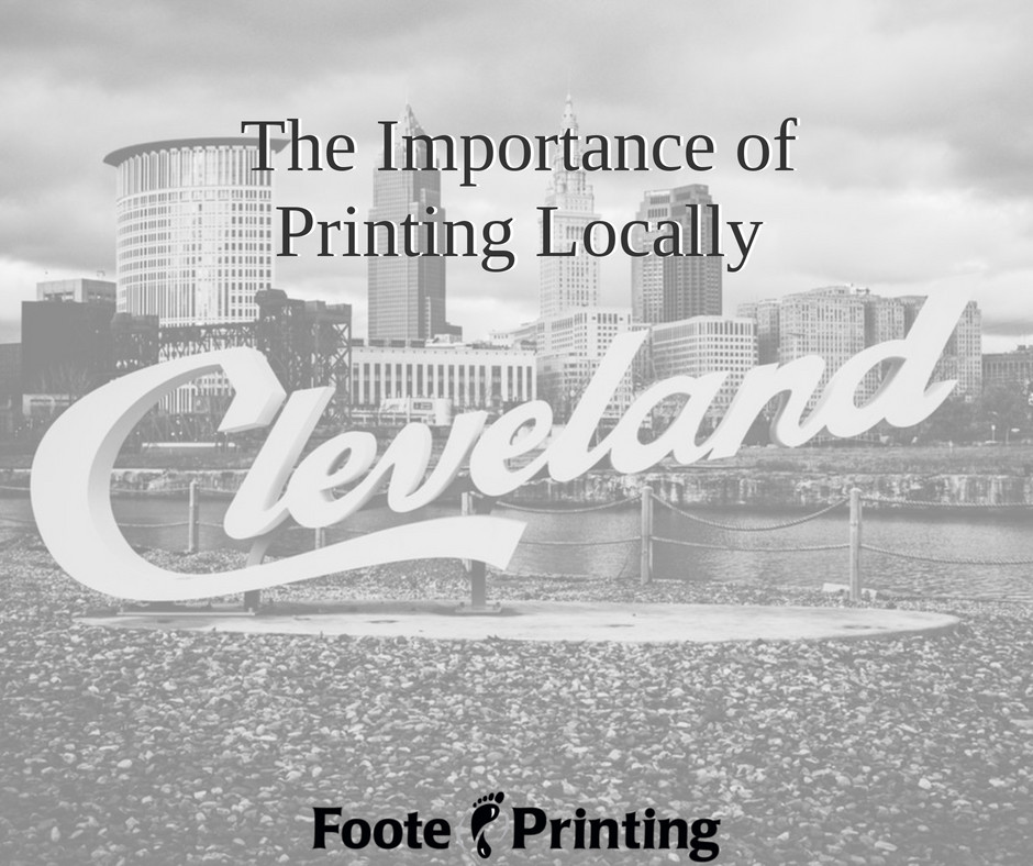 It is important to keep your printing needs local. Its better for the local economy