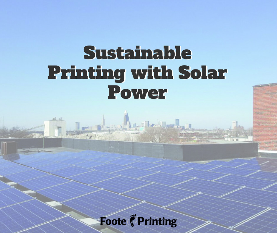 Sustainable Printing with Solar Power