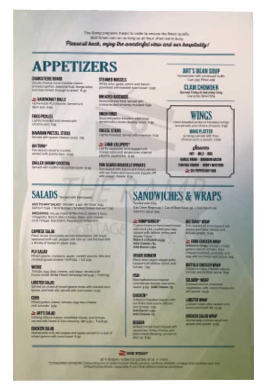 Affordable and Durable Restaurant Menus