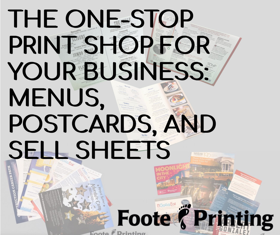 The One-Stop Cleveland Print Shop for Your Business: Menus, Postcards, and Sell Sheets