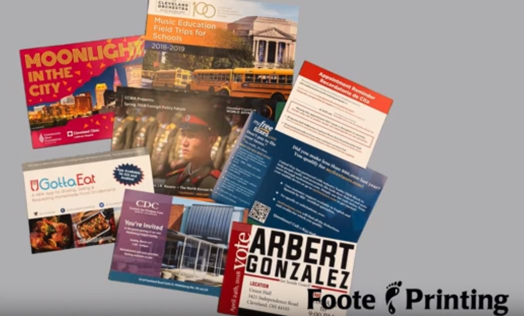 The One Stop Cleveland Print Shop for Your Business: Sell Sheets, Menus, and Post Cards