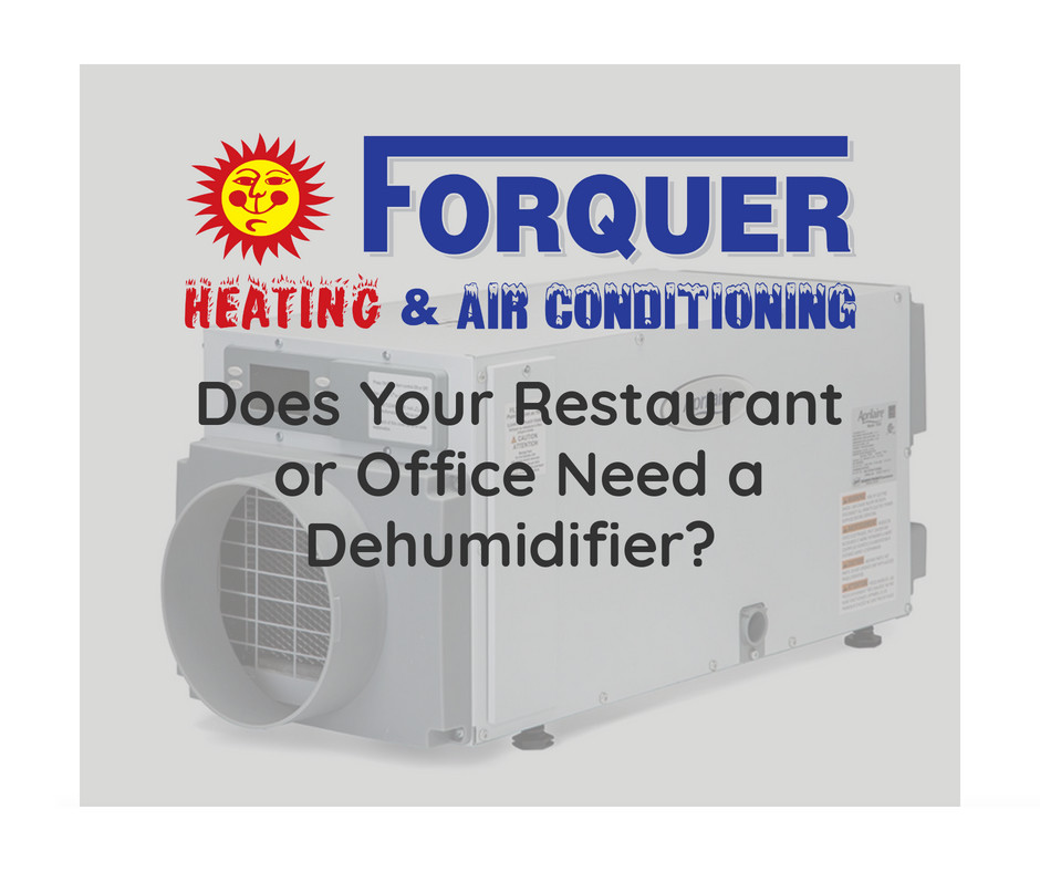 Forquer can install a dehumidifier in your office or restaurant to balance that extra humidity