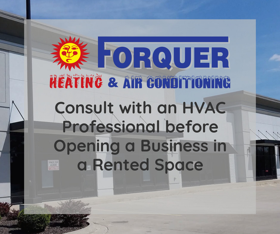 Consult with an HVAC Professional before Opening a Business in a Rented Space