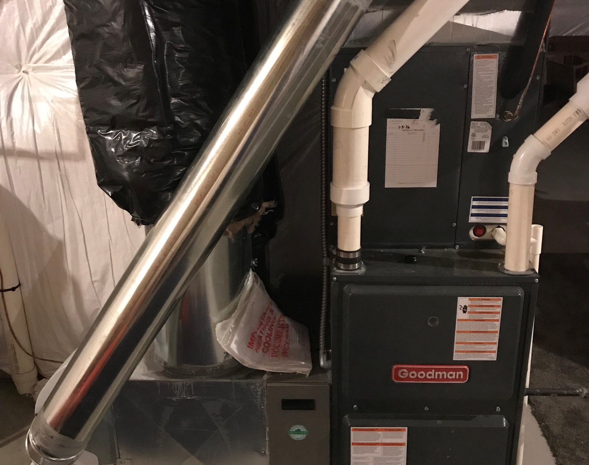 High Efficiency Furnace with PVC Piping for 95% Heat Retention within the Home