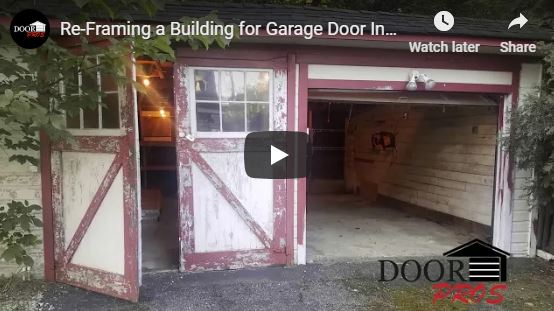 Re-Framing a Building for Garage Door Installation