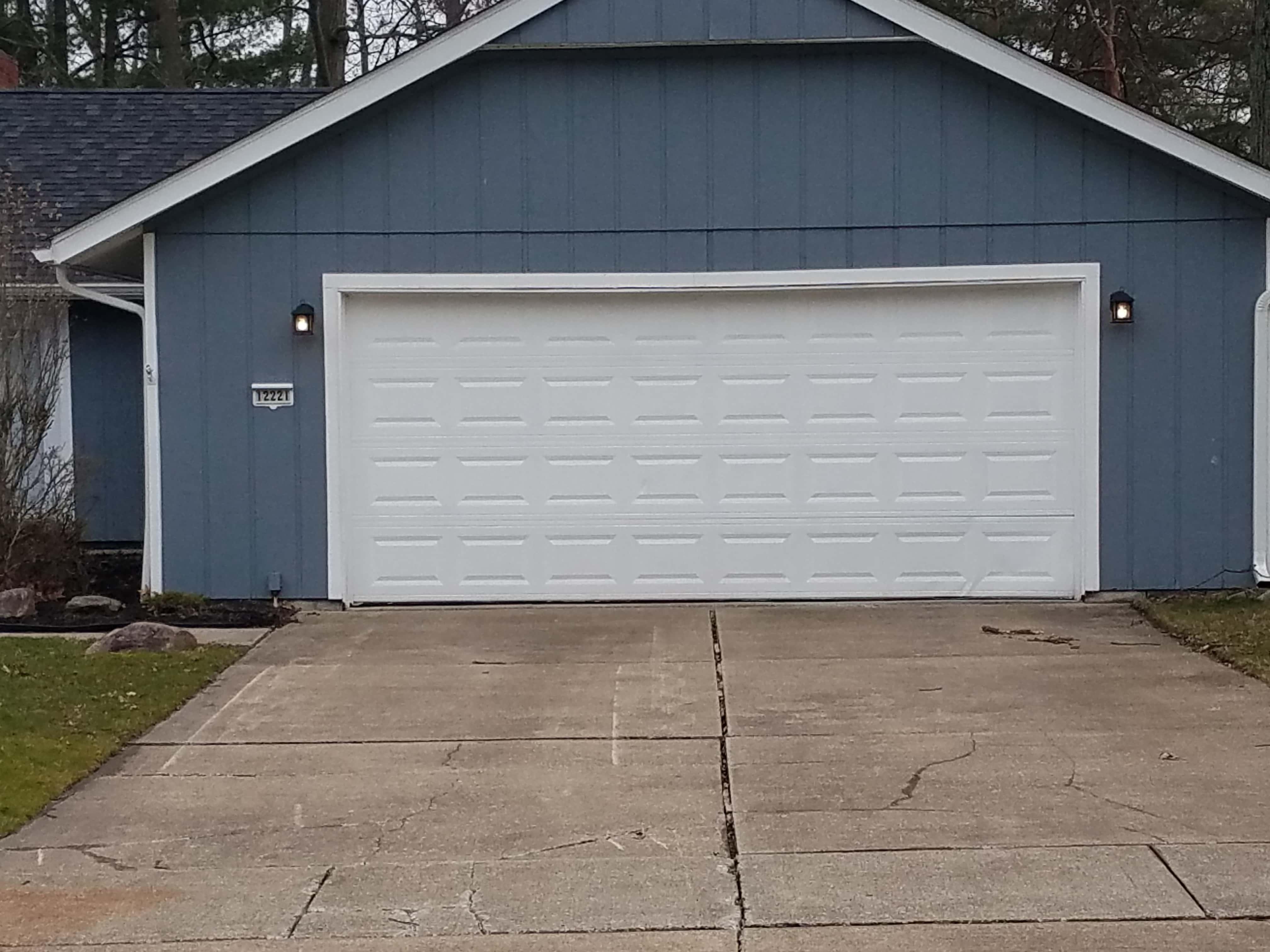 Dented Garage Door Panel