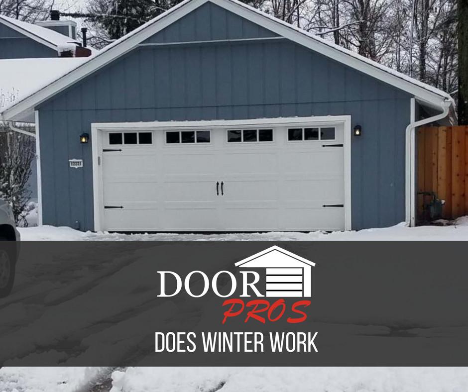 winter garage door work