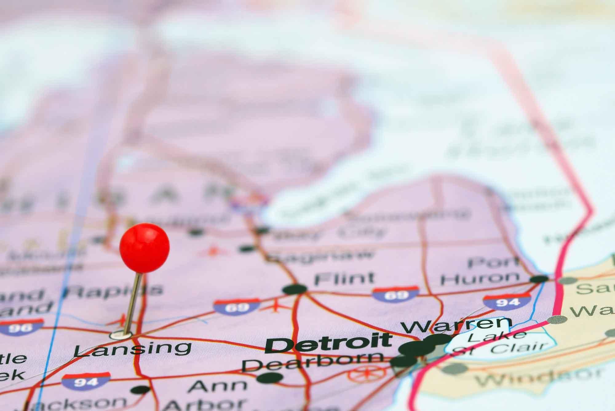 Lansing Michigan Map | Guy Hurley