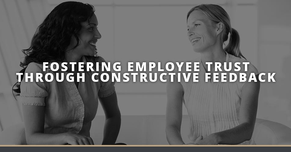Fostering Employee Trust Through Constructive Feedback Image