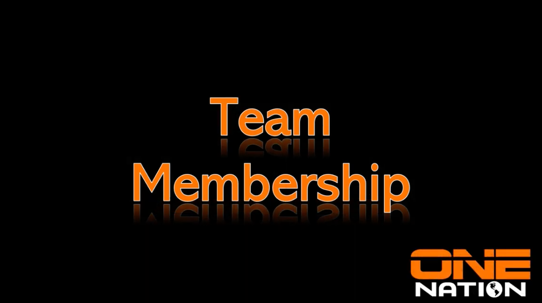 One Nation Team membership tutorial