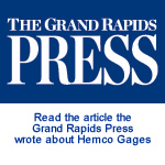 Gradn Rapids Press article about Hemco Gage
