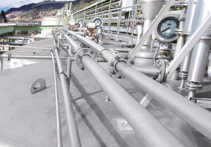 Peroxide tanks and piping   hydrosol system