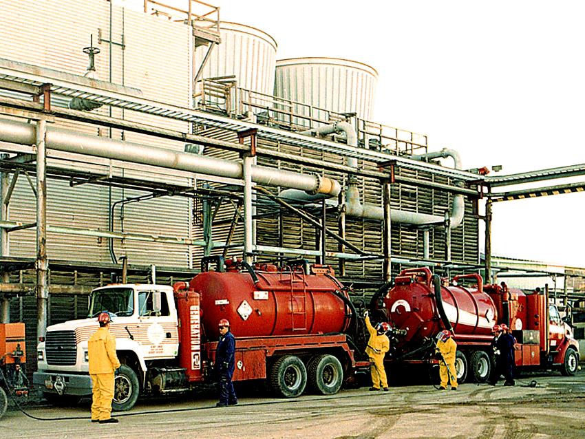 Hydrosol System liquid ring vacuum truck service.