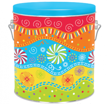 Popcorn Gift Tin, 3.5 Gallon   Half and Half