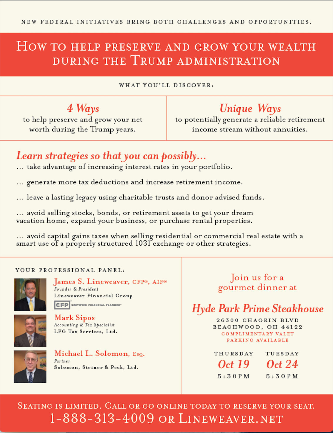 How To Preserve and Grow your Wealth During the Trump Administration | Lineweaver Financial