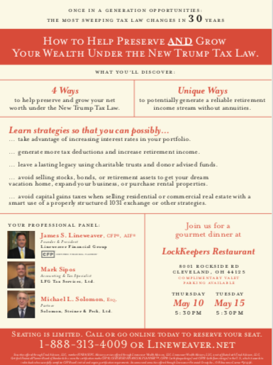 How to Help Preserve and Grow Your Wealth Under the New Trump Tax Law | Lineweaver Financial Group