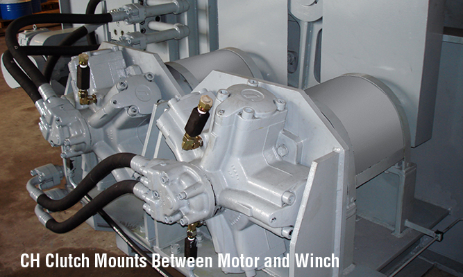 CH Clutch Mounts Between Motor and Winch