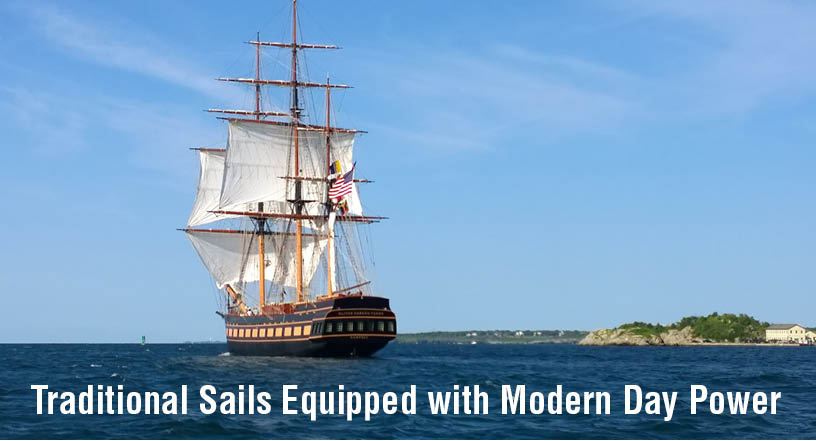Traditional Sails Equipped with Modern Day Power