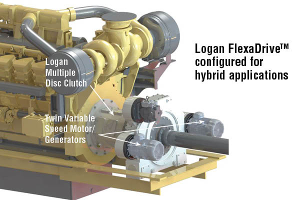 Logan FlexaDriveTM  configured for hybrid applications