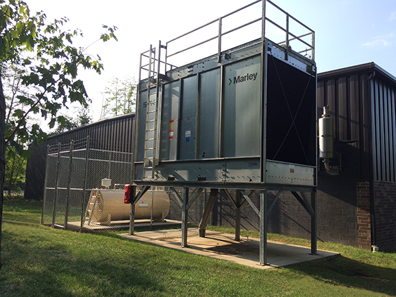 Logan Tech Center Cooling Tower and Fuel Tank