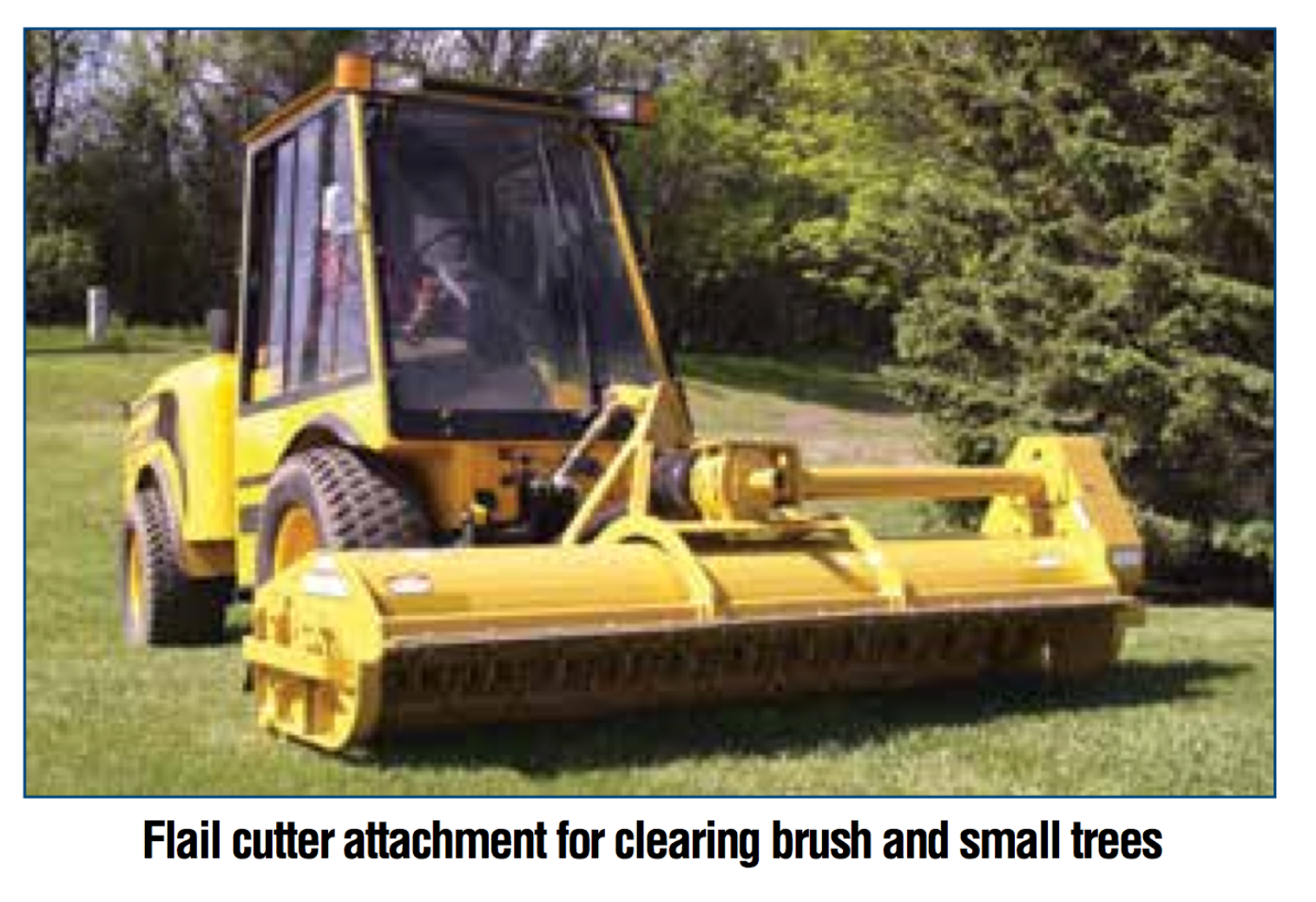 Flail Cutter attachment for clearing brush and small trees