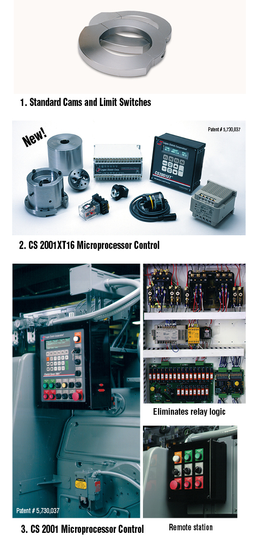Logan Air Pick Off Control Options. Standard Cams and Limit Switches. CS2001XT16 Microprocessor Control.