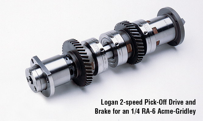 2-Speed Pick-off drive with brake for 1-1/4 RA-6 Acme-Gridley.