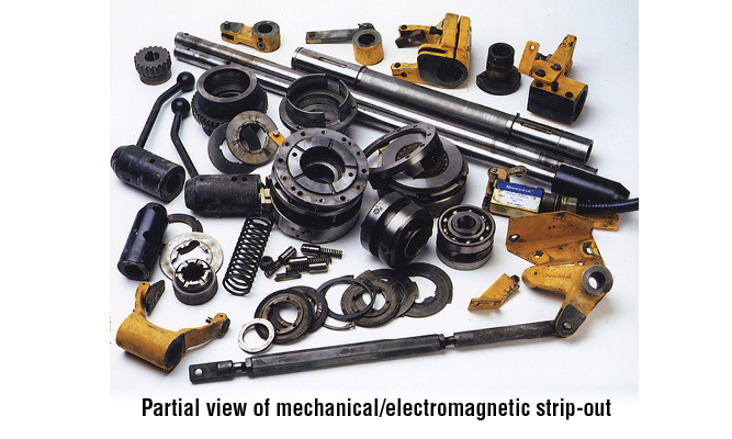 Elminated wear parts in Wickman gearbox