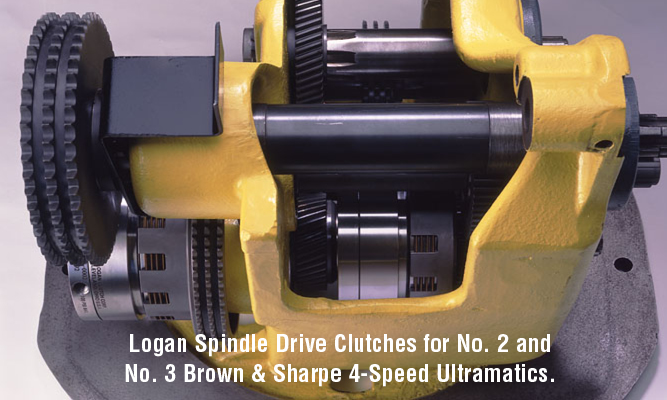 Logan Spindle Drive Clutches for No. 2 and No. 3 Brown & Sharpe 4-Speed Ultramatics.