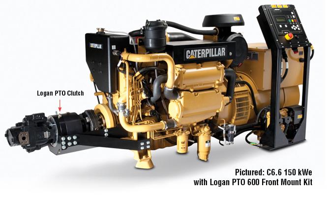C6.6 150 kWe  with Logan PTO 600 Front Mount Kit