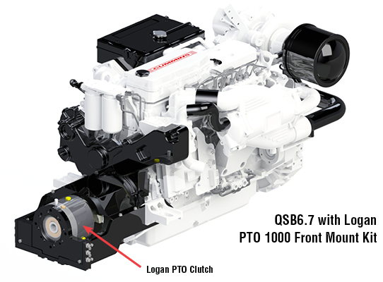 QSB6.7 with Logan PTO 1000 Front Mount Kit