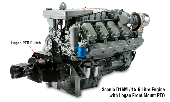 Front PTO Scania D12 and D16 Marine Engines
