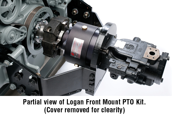 Partial view of Logan Front Mount PTO Kit.