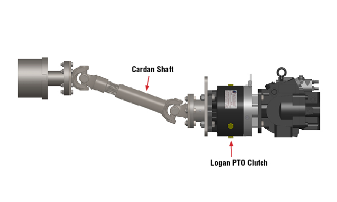 405 Series: Remote Mounting of Consecutive PTO Clutch and Aux. Pump