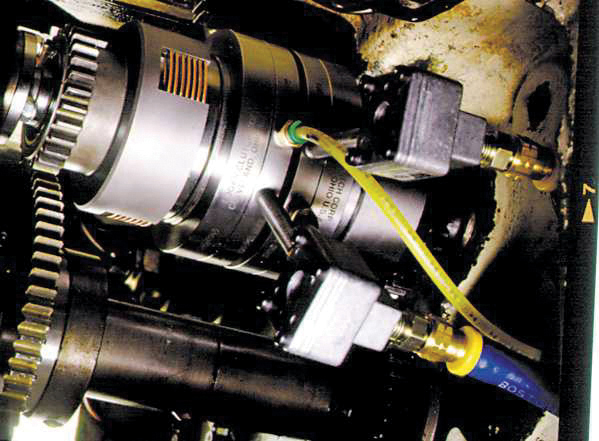 Logan air threading clutch installed in a 16 Wickman